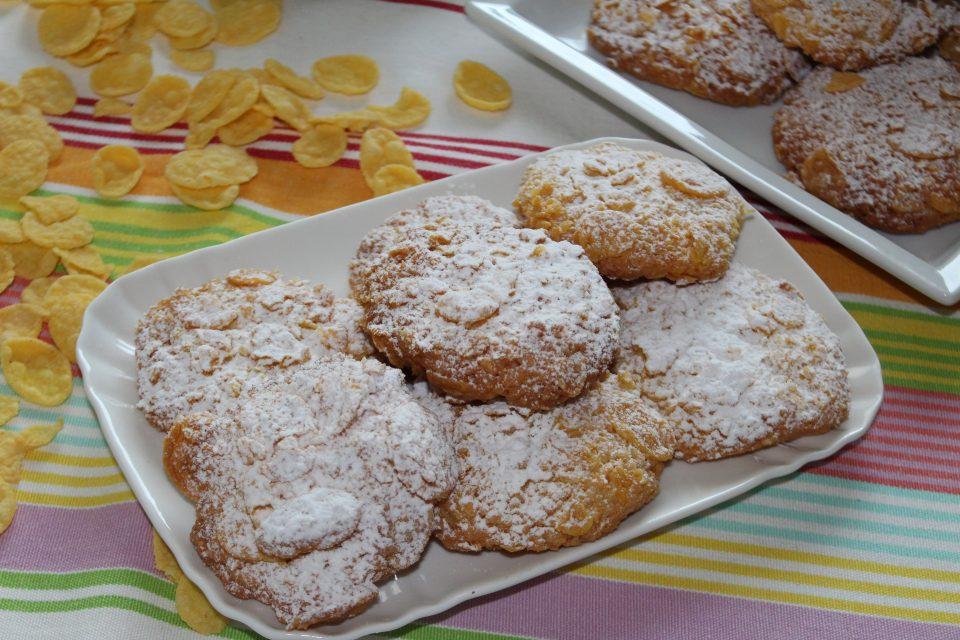 Biscotti ai Corn Flakes e cocco
